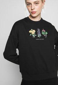 New Look - ALWAYS BE KIND WILD FLOWER - Mikina - black - 4