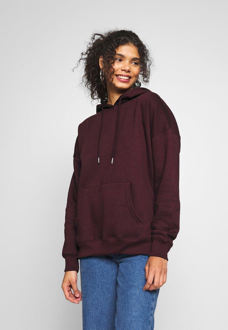 New Look - HOODY - Hoodie - dark burgundy