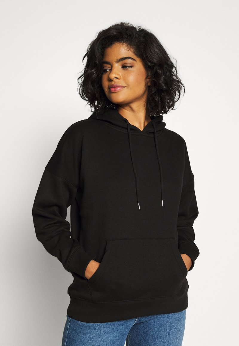 New Look - HOODY - Felpa con cappuccio - black