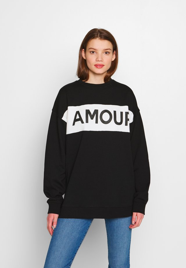 AMOUR  - Sweatshirt - black