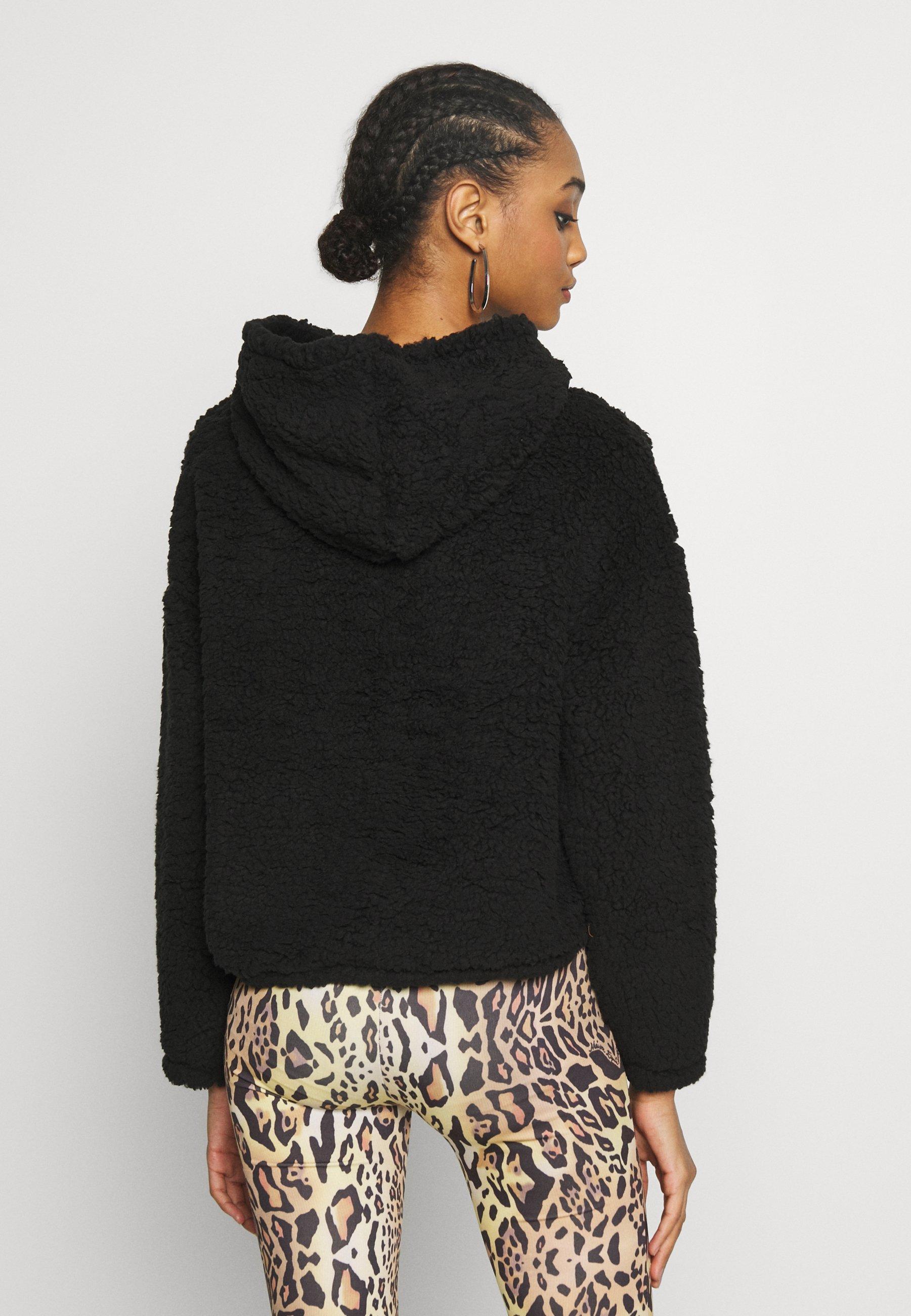 New Look TEDDY HOODY - Bluza z kapturem - black