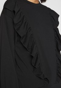 New Look - DOUBLE FRILL FRONT - Bluza - black - 4