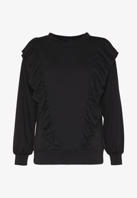 New Look - DOUBLE FRILL FRONT - Bluza - black - 3