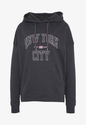 NEW YORK HOODY - Jersey con capucha - dark grey