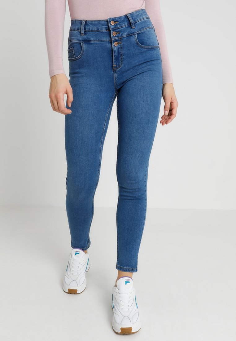 New Look - HIGHWAIST - Jeans Skinny Fit - mid blue