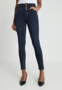 New Look - HIGHWAIST - Skinny džíny - blue pattern - 0