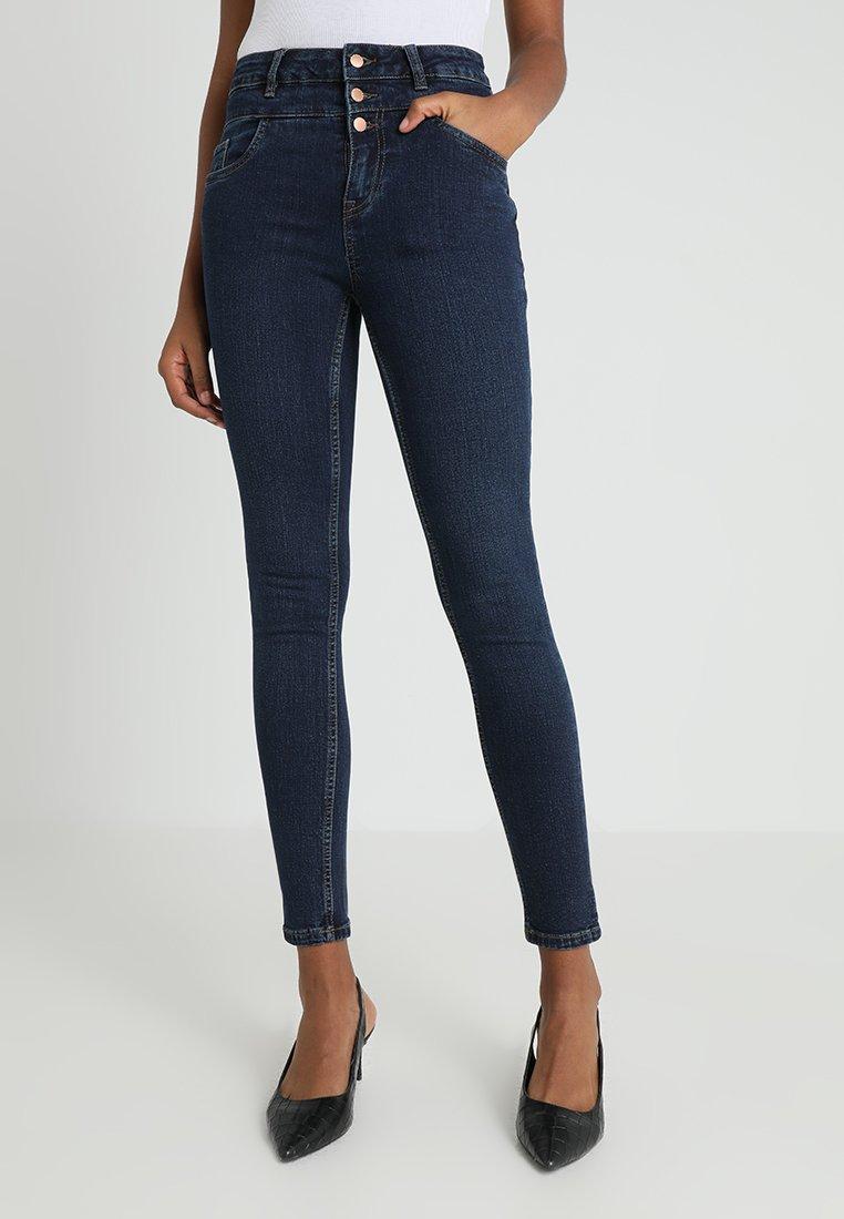 New Look - HIGHWAIST - Skinny džíny - blue pattern