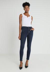 New Look - HIGHWAIST - Skinny džíny - blue pattern - 1