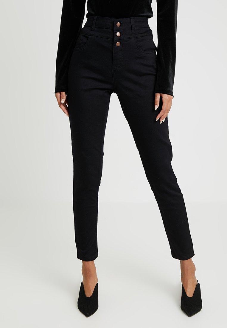 New Look - HIGHWAIST - Jeans Skinny - black