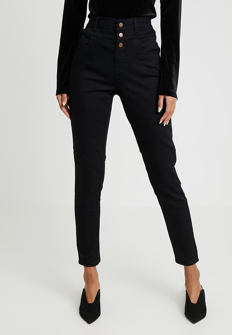 New Look - HIGHWAIST - Jeans Skinny Fit - black