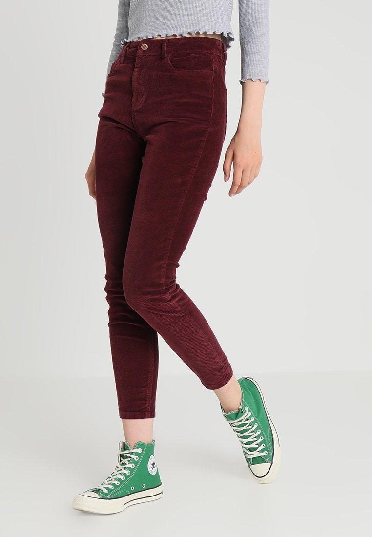 New Look - Stoffhose - burgundy