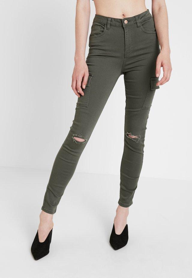 CARDI CARGO - Jeans Skinny Fit - dark khaki