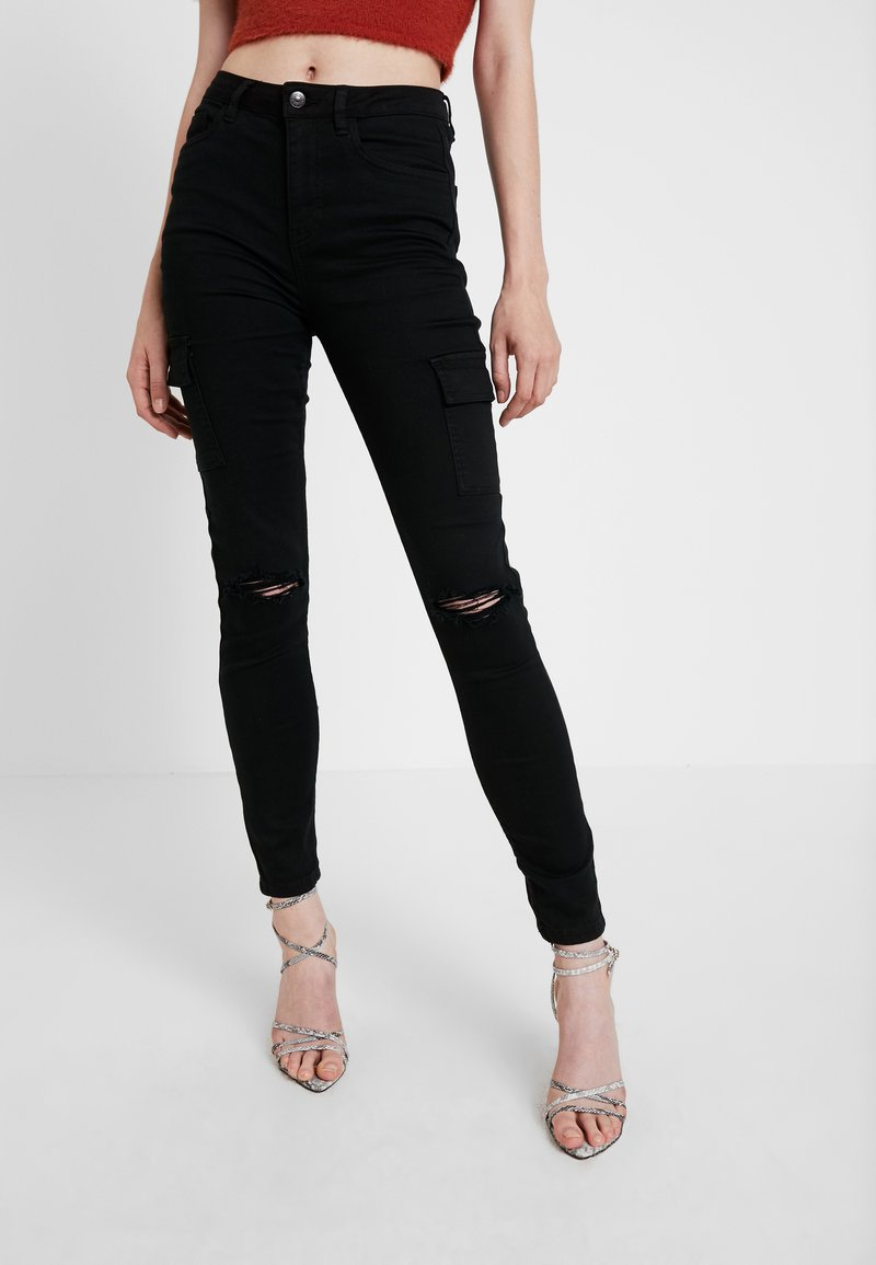 New Look - CARDI CARGO - Jeans Skinny Fit - black