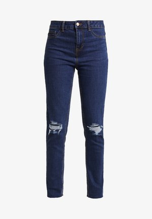 WOW KNEE RIP - Jeansy Skinny Fit - mid blue