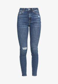 New Look - VINTAGE DISCO BUSTED KNEE KATHY - Jeans Skinny - teal - 4