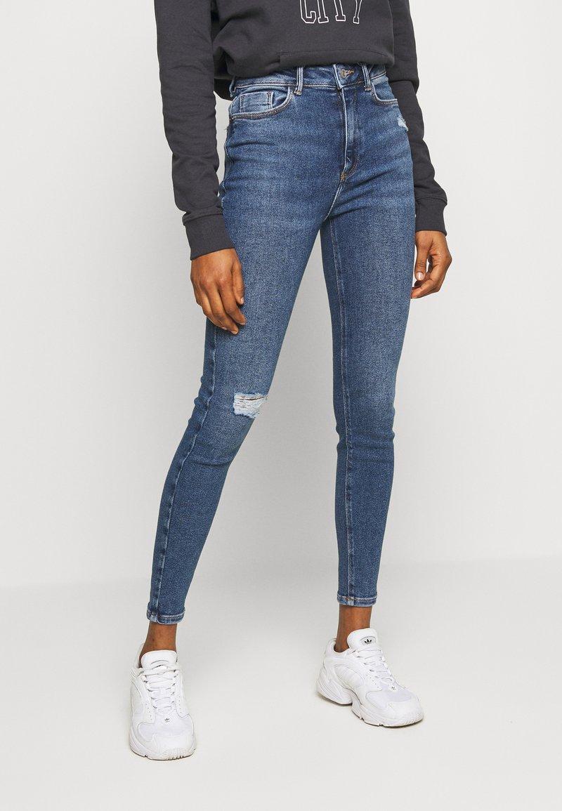 New Look - VINTAGE DISCO BUSTED KNEE KATHY - Jeans Skinny - teal