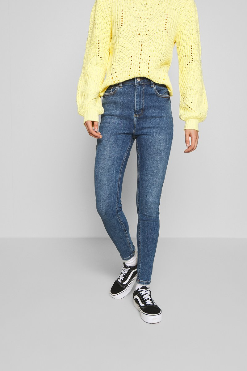 New Look - CLEAN DISCO BRANNING - Jeans Skinny - mid blue