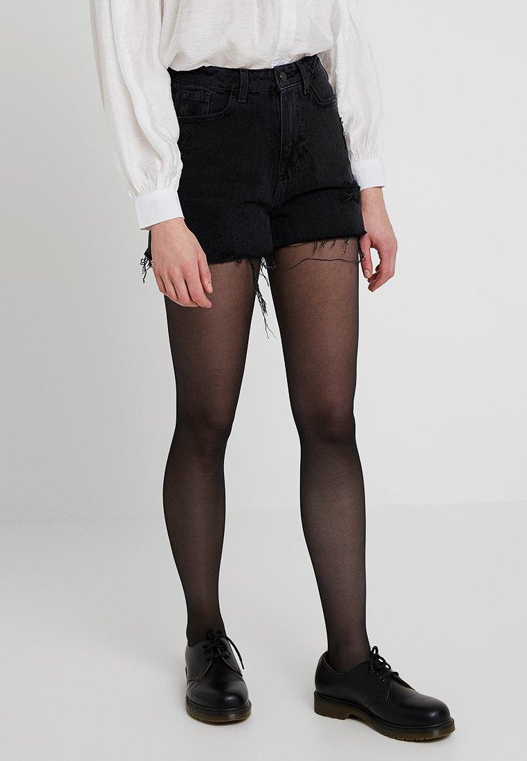 New Look - MOM CRANBERRY - Džínové kraťasy - black