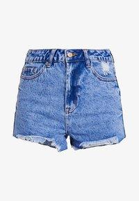 New Look - BERMUDA RIPPED SHORT - Denim shorts - bleach - 4