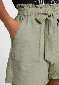 New Look - JANE PAPERBAG  - Shorts - dark khaki - 4