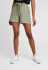 New Look - JANE PAPERBAG  - Shorts - dark khaki - 0