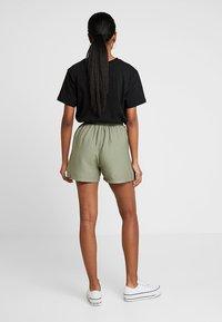New Look - JANE PAPERBAG  - Shorts - dark khaki - 2
