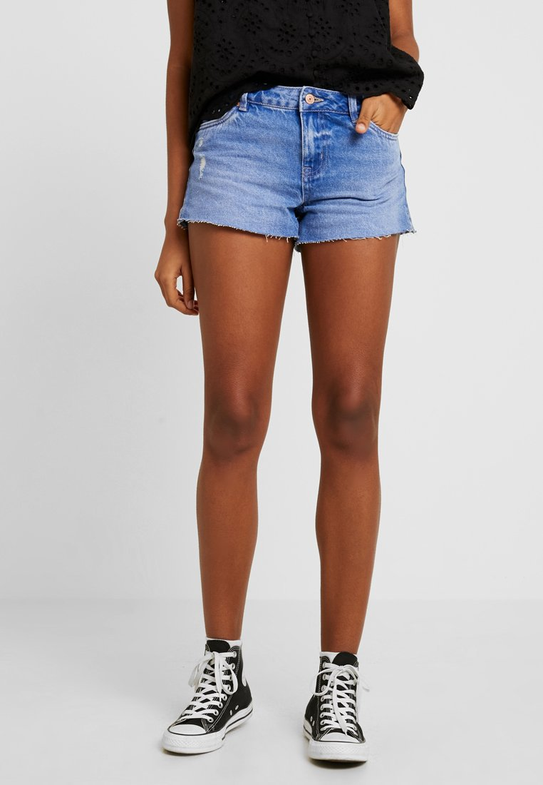 New Look - HOTPANT APPLE - Denim shorts - bright blue