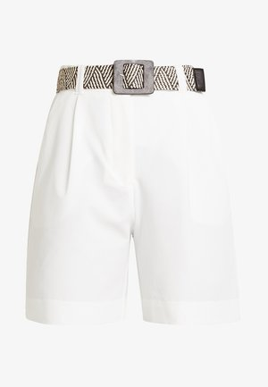 BELTED CITY - Shorts - white