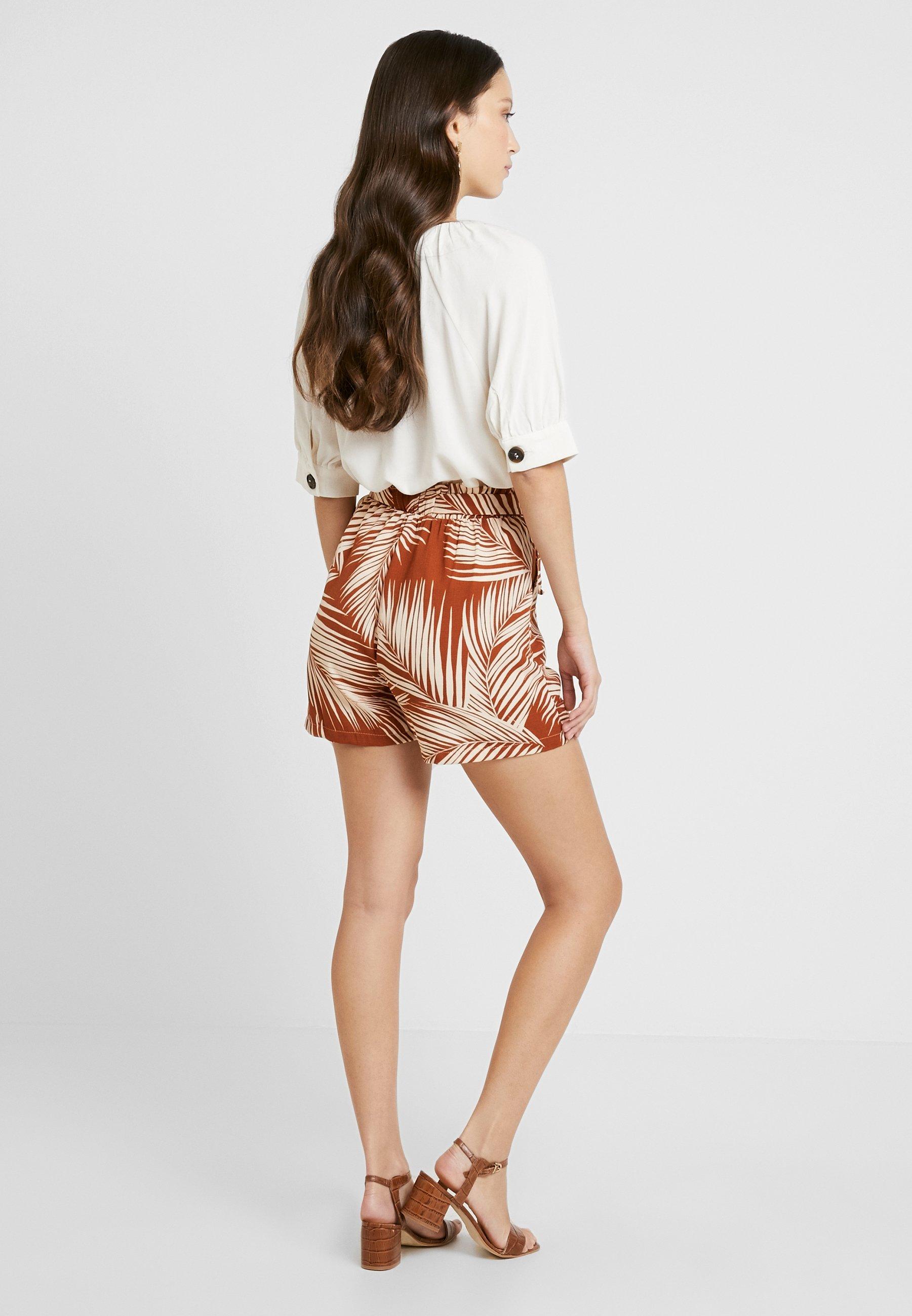 Paperbag Brown Tie Palm New Look Kendal WaistShort sdtrCxhQB