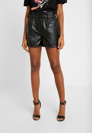 PAPERBAG BUTTON - Shortsit - black