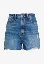 HIGHRISE MOM  - Shorts di jeans - blue