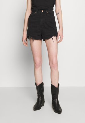 HIGHRISE MOM  - Shorts di jeans - black