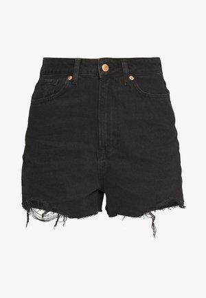 HIGHRISE MOM  - Jeansshort - black