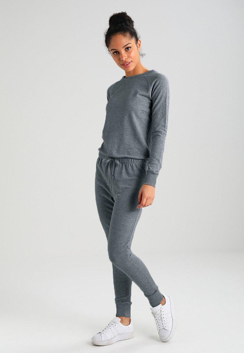 New Look - CREW NECK - Jumpsuit - grey marl