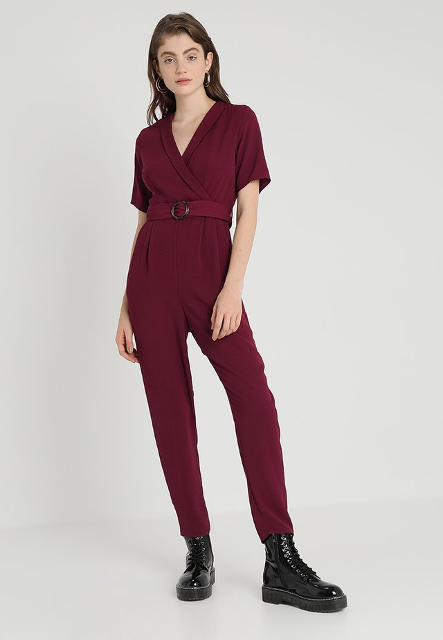 BONE REVERE COLLAR WRAP  - Jumpsuit - light burgundy