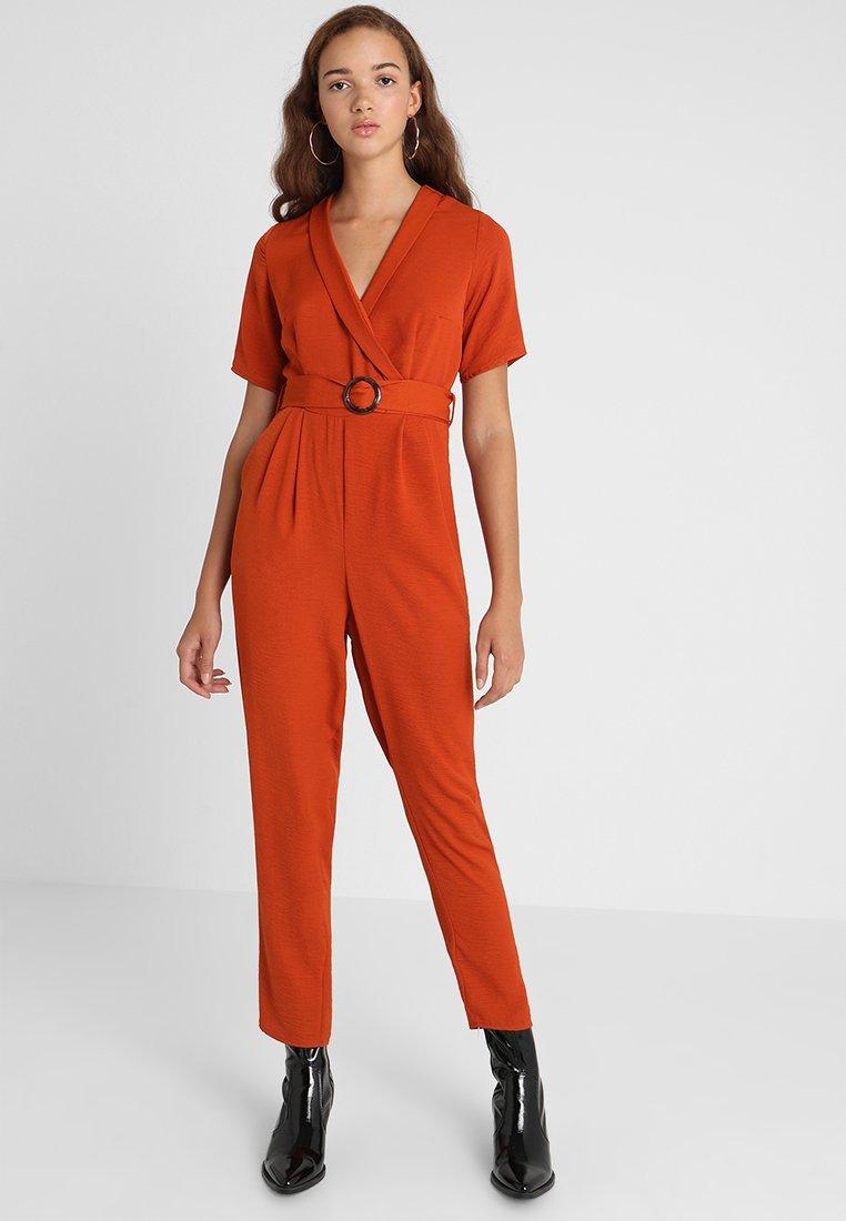 New Look - BONE REVERE COLLAR WRAP  - Haalari - burnt orange