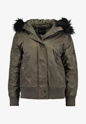 DENHAM HOOD BOMBER  - Lett jakke - dark khaki