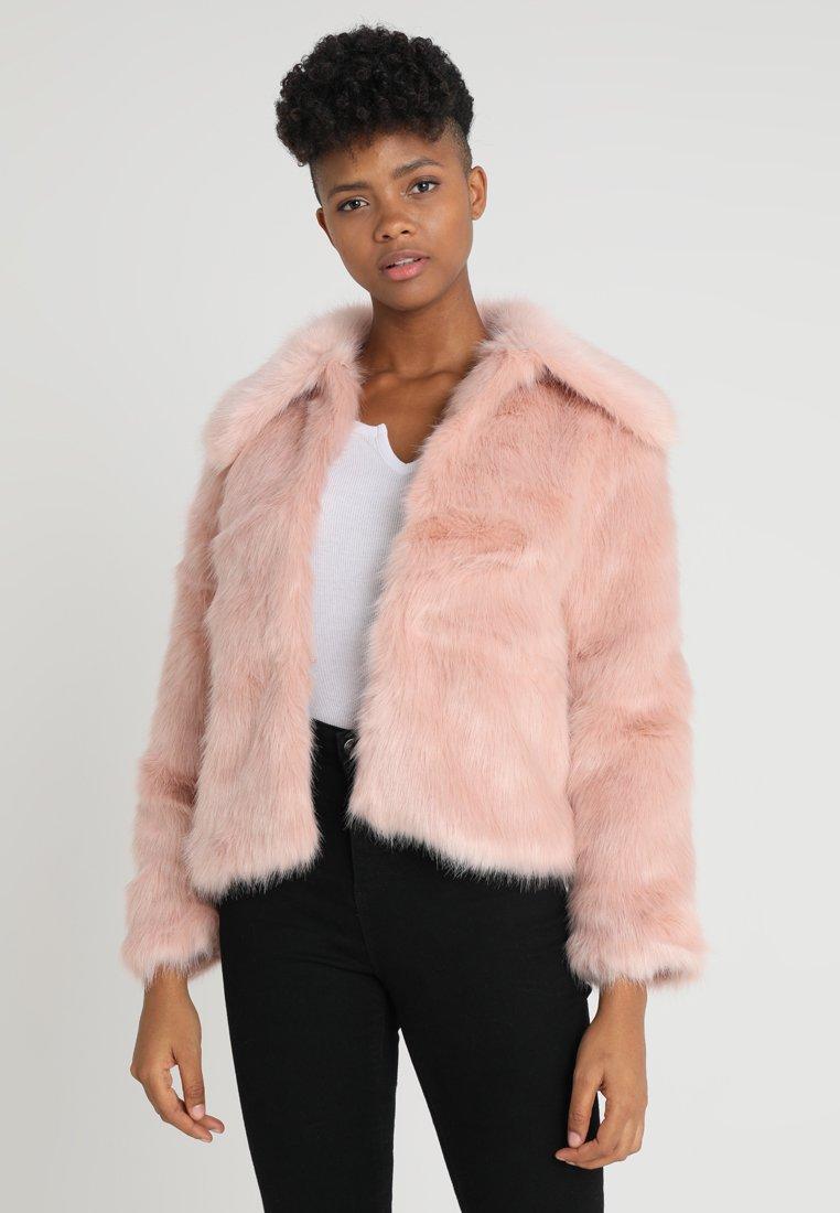 New Look - HETTY COLLAR SHORT COAT - Winterjacke - pink
