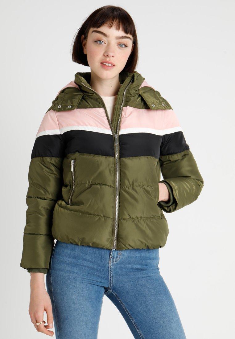 New Look - COLOUR BLOCK PUFFERS - Winterjas - light khaki