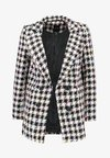 New Look - PASTEL CHECK - Manteau court - black