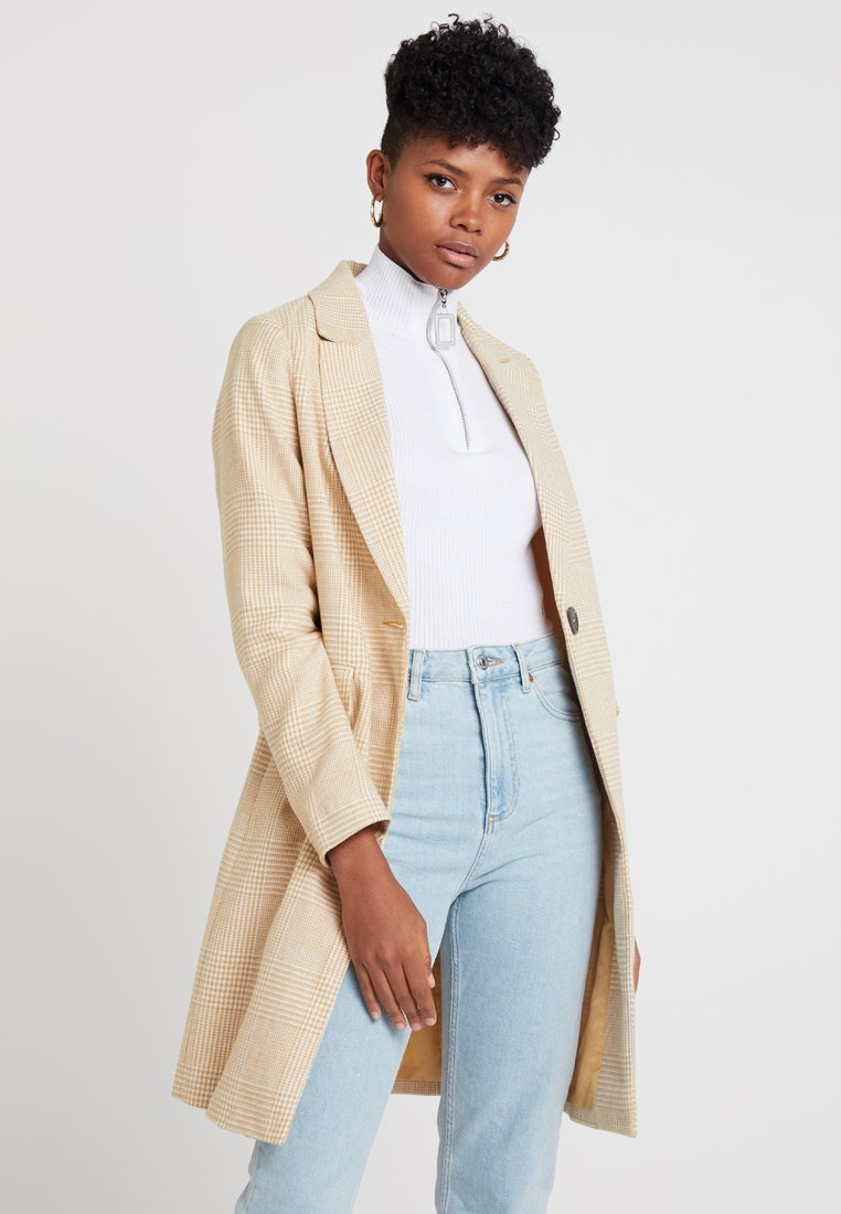 New Look - PASTEL CHECK CROMBY - Classic coat - yellow