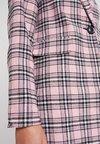 New Look - FLORENCE CHECK COAT - Wollmantel/klassischer Mantel - pink