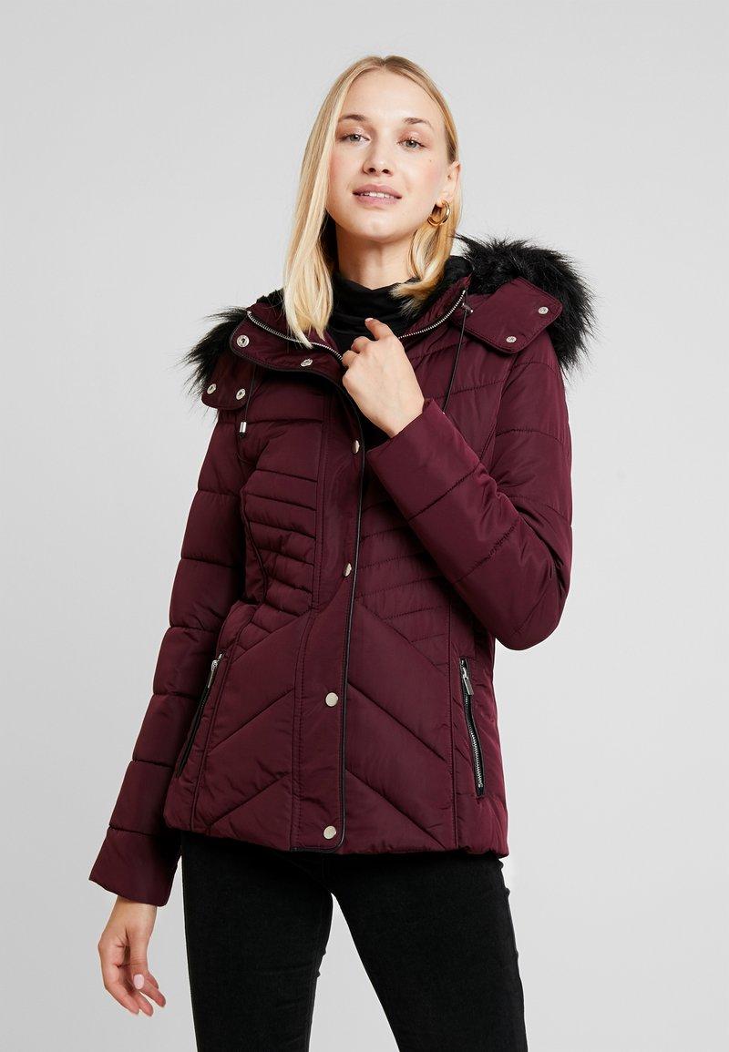 New Look - FITTED PUFFER - Lehká bunda - burgundy