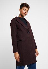 New Look - LEAD IN COAT - Halflange jas - burgundy - 0
