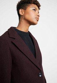 New Look - LEAD IN COAT - Halflange jas - burgundy - 4