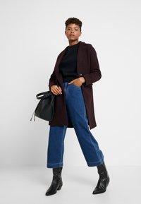 New Look - LEAD IN COAT - Halflange jas - burgundy - 1