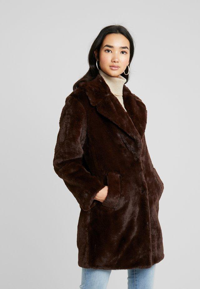 Halflange jas - dark brown
