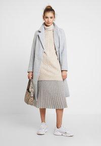 New Look - GABRIELLE BELTED COAT - Kåpe / frakk - light grey - 1