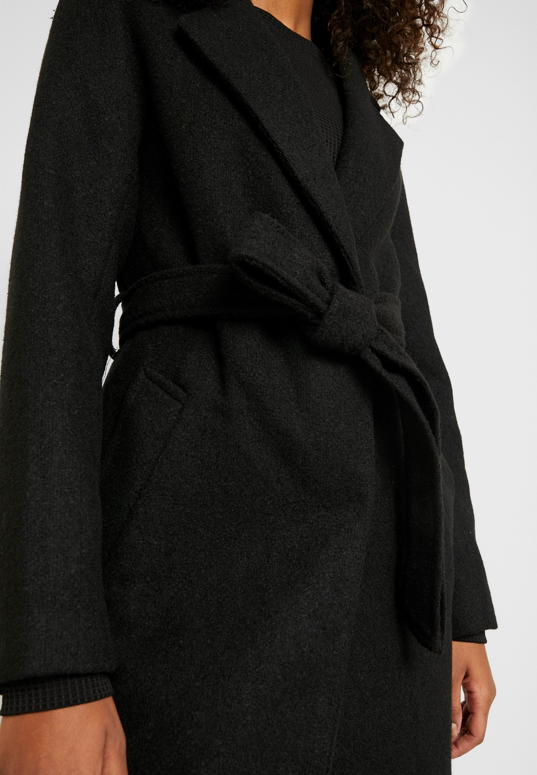 New Look Gabrielle Belted Coat - Classic Black UK