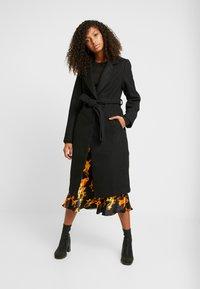 New Look - GABRIELLE BELTED COAT  - Zimní kabát - black - 0